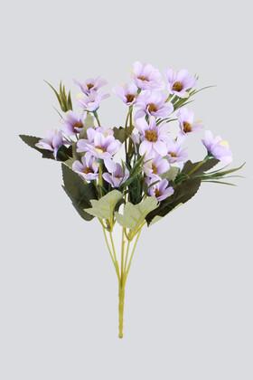Yapay Çiçek Deposu - Yapay 20li Papatya Çiçeği Demeti Lila
