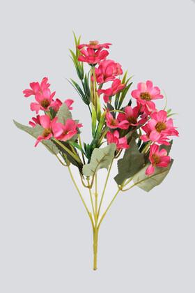 Yapay Çiçek Deposu - Yapay 20li Papatya Çiçeği Demeti Fuşya