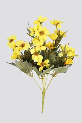 Yapay Çiçek Deposu - Yapay 20li Papatya Çiçeği Demeti Sarı