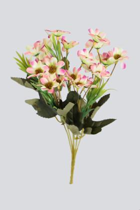 Yapay Çiçek Deposu - Yapay 20li Papatya Çiçeği Demeti Somon