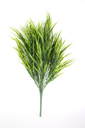 Yapay Çiçek Deposu - Yapay 24 Dal Büyük Çimen Demeti 55 cm Açık Yeşil