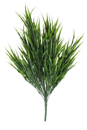 Yapay Çiçek Deposu - Yapay 24 Dal Büyük Çimen Demeti 55 cm Koyu Yeşil