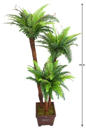 Yapay Çiçek Deposu - Yapay 3 Gövdeli Fujer Ağacı 155cm