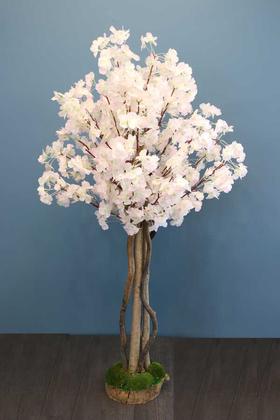 Yapay Çiçek Deposu - Yapay Ağaç Bahar Dalı 120 cm Pudra