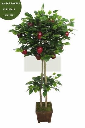 Yapay Çiçek Deposu - Yapay Ağaç Campbell Elma Ağacı 180 cm
