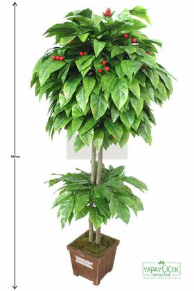 Yapay Çiçek Deposu - Yapay Ağaç Kiraz Ağacı 180 cm