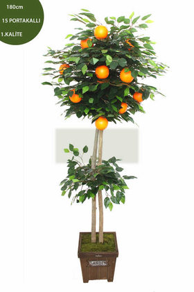 Yapay Çiçek Deposu - Yapay Ağaç Valensiya Portakal Ağacı 180 cm