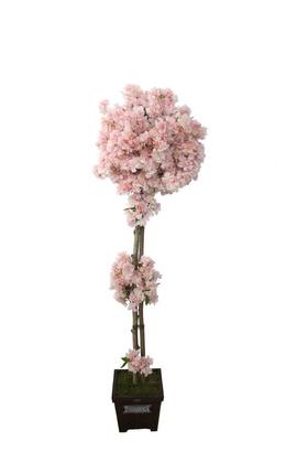 Yapay Çiçek Deposu - Yapay Bahar Dalı Ağacı 2 Gövdeli Pembe 180cm