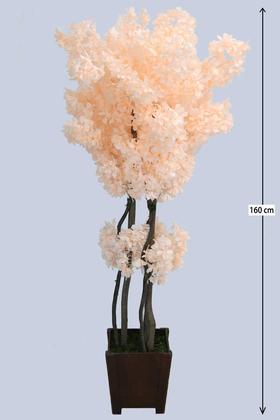 Yapay Çiçek Deposu - Yapay Bahar Dalı Ağacı Saçaklı Model 160 cm Somon