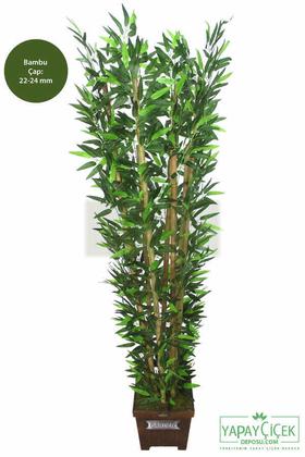 Yapay Çiçek Deposu - Yapay Bambu Ağacı 6 Gövde 180 cm Model4