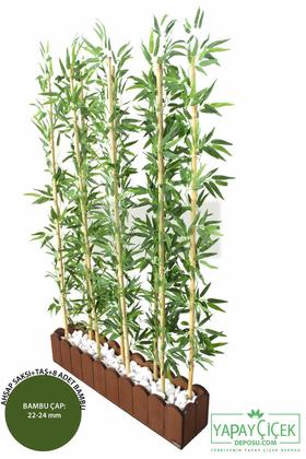Yapay Çiçek Deposu - Yapay Bambu Seperatör (20x100x180 cm)