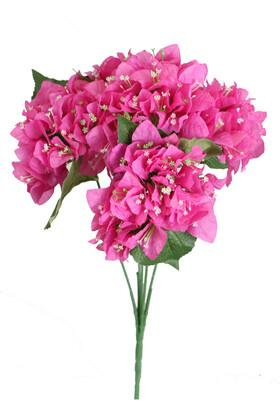 Yapay Çiçek Deposu - Yapay Begonvil Demeti 45 cm Fuşya