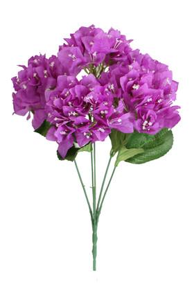 Yapay Çiçek Deposu - Yapay Begonvil Demeti 45 cm Mor