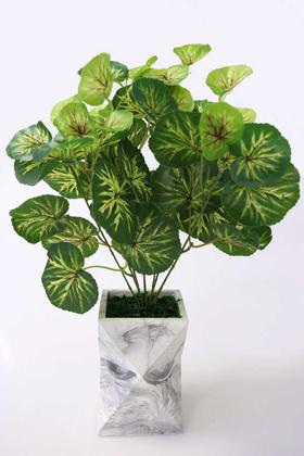 Yapay Çiçek Deposu - Uzun Model Beton Saksıda Begonya Bitkisi
