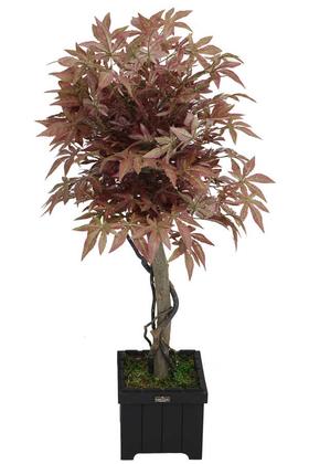 Yapay Çiçek Deposu - Yapay Bodur Çınar Ağacı 110 cm Cappuccino