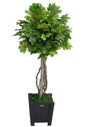 Yapay Çiçek Deposu - Yapay Bodur Çınar Ağacı 110 cm Parlak Yeşil