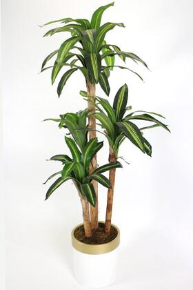 Yapay Çiçek Deposu - Metal Saksıda Yapay Ağaç 4 Gövdeli Cordyline 180 cm