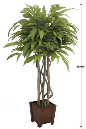 Yapay Çiçek Deposu - Yapay Ceviz Ağacı 3 Gövdeli 130 cm Yeşil