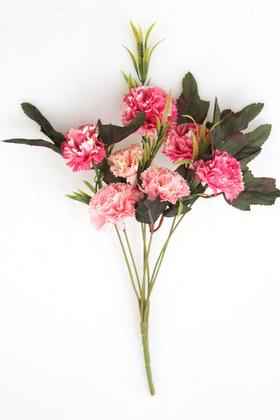 Yapay Çiçek Deposu - Yapay Çiçek 7li Karanfil Çiçeği (Fuşya-Pembe)