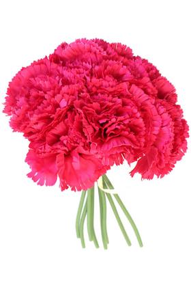 Yapay Çiçek Deposu - Yapay Çiçek 8li Karanfil Demeti Fuşya