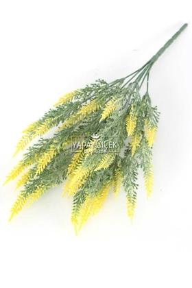 Yapay Çiçek Deposu - Yapay Lavanta Demeti Pudralı 35 İri Kafa Sarı
