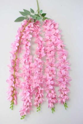 Yapay Çiçek Deposu - Yapay Çiçek 5li Uzun Sarkan Sümbül 85 cm Açık Pembe