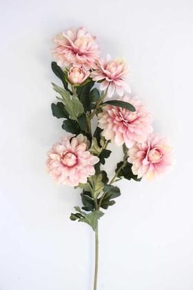 Yapay Çiçek Deposu - Yapay Çiçek 6lı Uzun Kasımpatı Dalı 85 cm Pudra Pembe