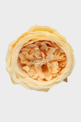 Yapay Çiçek Deposu - Yapay Tek Kafa Şakayık Gül 10 cm Kavuniçi