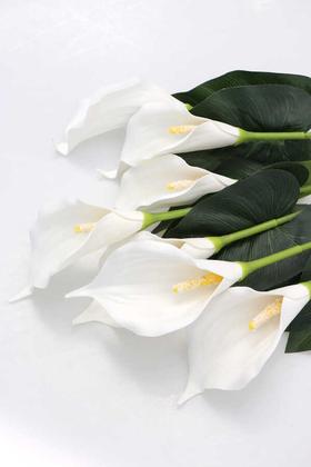 Dekoratif 7li Gala Bitkisi Demeti 60 cm Beyaz - Thumbnail