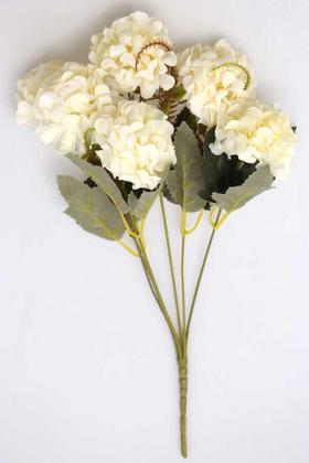 Yapay Çiçek Deposu - Yapay 6 Dal Kasımpatı Demeti Krem