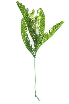 Yapay Çiçek Deposu - Yapay Küçük Ara Dal Garnitür Bitki 25 cm Yeşil