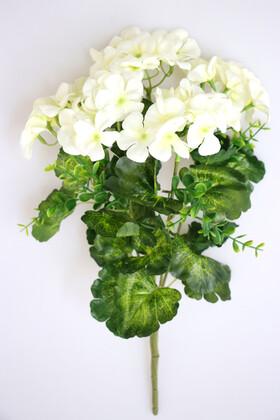 Yapay Çiçek Deposu - Yapay Çiçek Sardunya Demet Beyaz