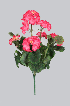 Yapay Çiçek Deposu - Yapay Çiçek Büyük Sardunya Demet Fuşya