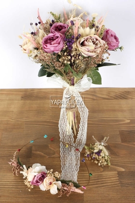 Yapay Çiçek Deposu - Style Yapay Gelin Çiçeği 3lü Set