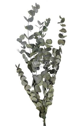 Yapay Çiçek Deposu - Şoklanmis Okaliptus Demeti Yeşil(Büyük Demet)