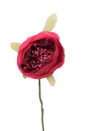 Yapay Çiçek Deposu - Yapay Çiçek İnce İpek Tek Dal Hazırlama Gülü Fuşya