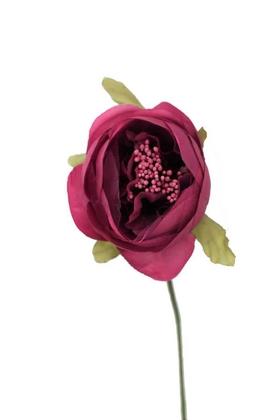 Yapay Çiçek Deposu - Yapay Çiçek İnce İpek Tek Dal Hazırlama Gülü Mor