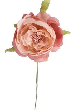 Yapay Çiçek Deposu - Yapay Çiçek İnce İpek Tek Dal Süsleme Soft Pembe