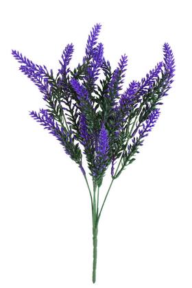 Yapay Çiçek Deposu - Yapay Lavanta Demeti Pudrasız Model Mor