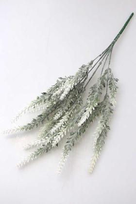 Yapay Çiçek Deposu - Yapay Lavanta Demeti Pudralı 25 İri Kafa Beyaz