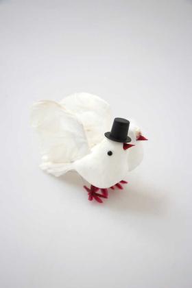 Yapay Çiçek Deposu - Gelin Damat 2li Köpük Kuş
