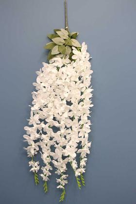 Yapay Çiçek Deposu - Yapay 5li Sarkan Kaliteli Akasya 90 cm Kar Beyaz