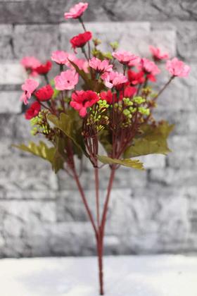 Yapay Çiçek Deposu - Yapay Cipsolu Papatya Demeti Pembe