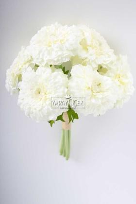 Yapay Çiçek Deposu - Yapay Lüx 6lı Gerbera Demeti 30 cm Beyaz