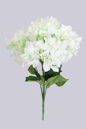 Yapay Çiçek Deposu - Yapay Begonvil Demeti 45 cm Beyaz