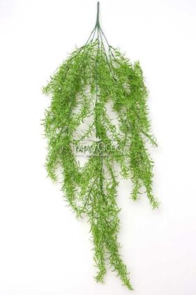Yapay Çiçek Deposu - Yapay Çiçek Sarkan Kıvırcık 80 cm Yeşil
