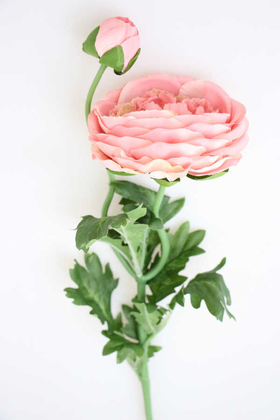 Yapay Çiçek Deposu - Yapay Çiçek Soft Tek Dal Tomurcuklu Gül (açık pembe)