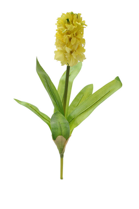 Yapay Çiçek Deposu - Yapay Çiçek Sümbül Dalı 38 cm Sarı