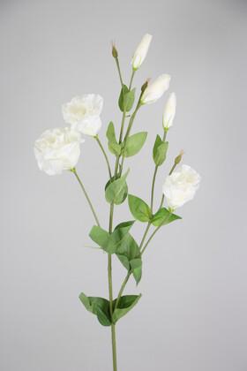Yapay Çiçek Deposu - Yapay Çiçek Lüx 6lı Lisyantus Dalı 88 cm Beyaz
