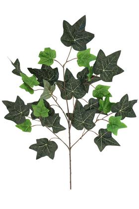Yapay Çiçek Deposu - Yapay Çınar Ağacı Dalı 20 Yapraklı 60 cm Yeşil Damarlı Doku